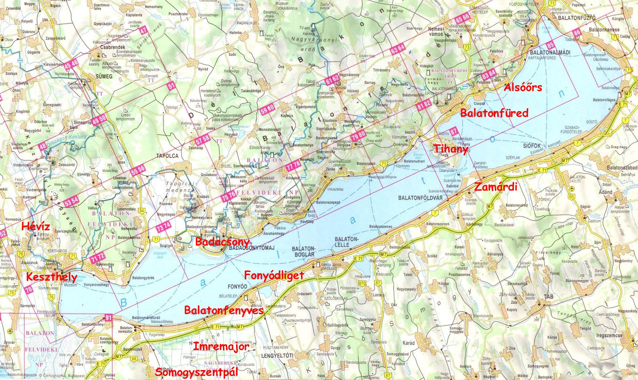 Balaton Trabant Tours állomások